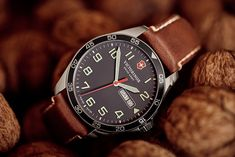 Swiss Army Victorinox Launches New FieldForce Collection Cool Watches, Watches For Men, Field Watches, Victorinox Swiss Army, Swiss Army Watches, Telling Time, Stainless Steel Bracelet, Link Bracelets, Bracelet Making