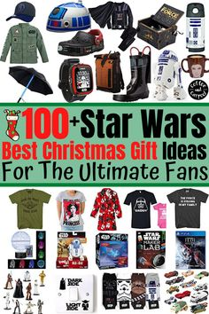 Got a STAR WARS fan in your life? Have them experience a magical Christmas this year with  incredibly AWESOME 100  Star Wars Gift Ideas for the Ultimate Fanatics. We have the coolest star wars gift ideas the galaxy has to offer! #starwarsgifts #stawarsgiftideas   #stawarsgiftideas #giftguide #giftideas #StarWars Star Wars Christmas, Magical Christmas, Best Christmas Gifts, Star Wars Gifts, Star Wars Toys, Star Wars Collection, Gift Guide, The 100, Stars