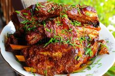 Marinované medové rebierka Tandoori Chicken, Pork, Cooking Recipes, Beef, Ethnic Recipes, Pork Roulade, Meat, Food Recipes, Pigs