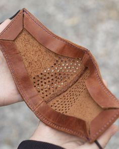 Diy Leather Mask, Leather Bags Handmade, Unisex, Biker Accessories, Mulberry Bag, Leather Portfolio, Leather Workshop, Protective Mask, Leather Pattern
