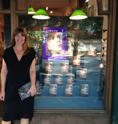 Here's Faye Bird at the launch of her debut novel My Second Life - an utterly gripping psychological mystery for teens. The party was held at Daunt Books in Holland Park - and here's the fabulous window display they did for us! You can read the first chapter of #MySecondLife online now at www.usborne.com/readmysecondlife #teenbooks #ukya #booklaunches #usborne