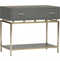 Happily Gray One Drawer Nightstand
