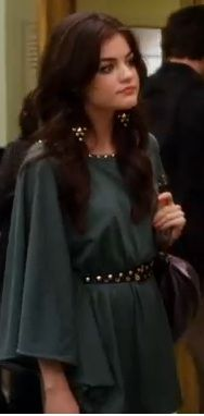 Aria's gorgeous green tunic from PLL. I've been on the lookout for a lookalike since I saw the episode.