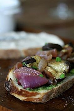 Roasted Eggplant Sandwiches with White Bean Spread #luncbox | Feed Me Phoebe