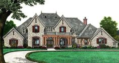 House Plan 66267 | European   French Country    Plan with 4392 Sq. Ft., 4 Bedrooms, 4 Bathrooms, 3 Car Garage