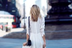White embroidered dress on #tuula