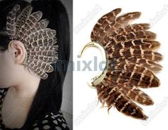 Gallery For > How To Make Ear Cuffs Feather