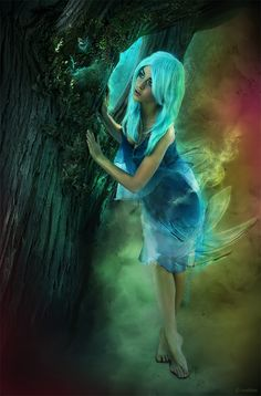 Blue haired sprite.