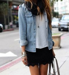 obsessed with denim shirts right now!
