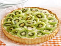 Kiwifruit custard tart, kiwi recipe, brought to you by recipes+