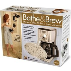 these are hilarious!!! Bathe & Brew Decoy Gift Box | Funny Coffee Holiday Wrapping | The Onion Store