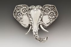 Elephant Brooch Pin SILVER SPOON JEWELRY The ears of this majestic elephant are crafted from the handles of two spoons, while the face and trunk are formed by a third spoon handle. Dimensions: x 1 silver plate Made in the USA Silver Spoon Jewelry, Fork Jewelry, Silver Spoons, Silver Plate, Silver Rings, Jewelry Necklaces, Jewelry Crafts, Jewelry Art, Handmade Jewelry
