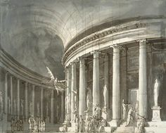 Stage-set Design - Pietro di Gottardo GONZAGA, 1790s - Pencil, Indian ink and ink, 360 x 444 mm The Hermitage, St. Petersburg