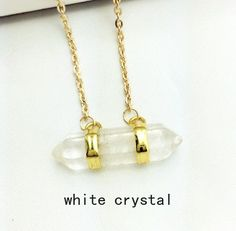 Special gift white crystal stone pendant woman necklace