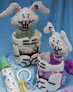 Bunny Baskets Baby Annie's Plastic Canvas Pattern Leaflet NEW - 30 Days to Pay!