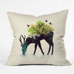 Budi Kwan Watering A Life Into Itself Outdoor Throw Pillow | DENY Designs Home Accessories