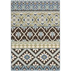 Safavieh VER097-0624 Veranda Collection Indoor/Outdoor Area Rug, 4-Feet by 5-Feet 7-Inch, Chocolate and Blue Safavieh http://www.amazon.com/dp/B00BIY08UO/ref=cm_sw_r_pi_dp_LTmpvb1P19MEJ