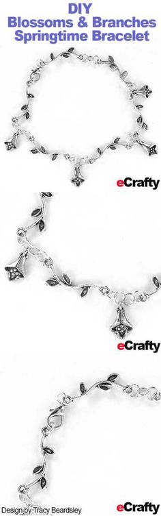 Let the warm weather and sunshine inspire you to make a Spring Flower Blossoms & Branches Garden Charm Bracelet. It is light, delicate, and moves with you, reminding you of the beauty and vitality of spring Blossom Flower, Beading Tutorials, Jewelry Making Supplies, Spring Flowers, Spring Time, Blossoms, Warm Weather, Branches, Fun Crafts