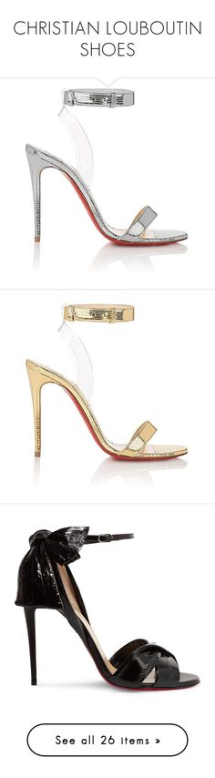 """CHRISTIAN LOUBOUTIN SHOES"" by eenn ❤ liked on Polyvore featuring shoes, sandals, heels, louboutin, scarpe, strappy high heel sandals, heels stilettos, bow sandals, strappy sandals and christian louboutin shoes"