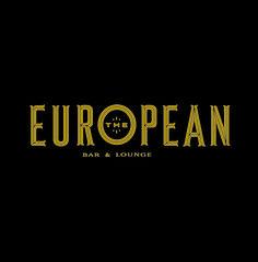 Custom typography logo design for The European Bar & Lounge // design by CDA // chendesign.com