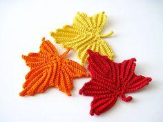 lazyorangehousecat:  Maple Leaves Crochet Pattern by GoldenLucyCrafts on Etsy