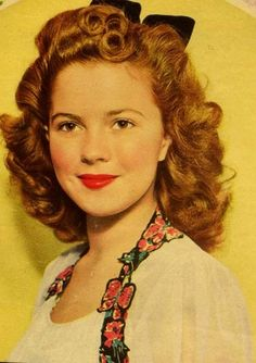 """Shirley Temple always had the cutest """"baby face"""", even as a young adult!"""