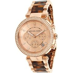 Michael Kors Women's MK5538 Parker Brown Crystal-Accented Watch. Available at #Brandinia      www.Brandinia.com