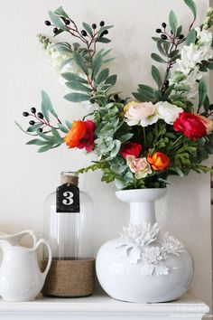Spring Mantel Ideas by A Blissful Nest