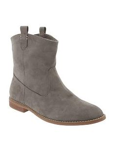 Women's Faux-Leather Ankle Boots   Old Navy