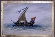 A small pleasure yacht (Speeljachtje), Adriaen van de Venne, 1620-1626 (circa)