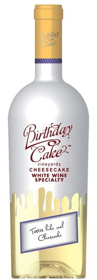 Cheesecake White Wine - Birthday Cake Vineyards - this was a gift a few months ago and I am just now trying it.  It is good cold - almost clear in color - a little sweet cheesecake flavor!  More of a dessert wine.