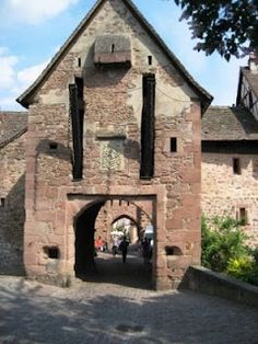 entrance to the village of Riquewihr, Alsace