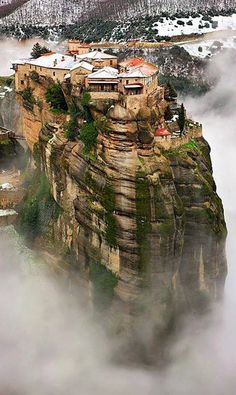 GREECE!   Snow at Meteora, Greece , from Iryna