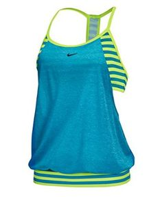Nike Women's Evenflow Crossback Swimsuit Tankini at Amazon Women's Clothing store:
