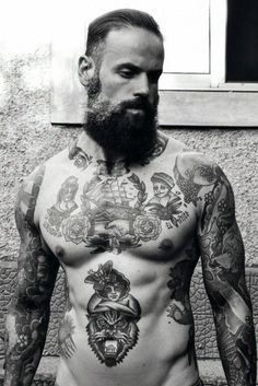Vintage Tattoos for Men Vintage Tattoos tough Guy Give Me Ink Trendy Tattoos, Tattoos For Guys, Tattoos For Women, Men Tattoos, Small Tattoos, Sleeve Tattoos, Tatoos, Cool Chest Tattoos, Chest Piece Tattoos