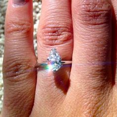 5 Sparkly Reader Engagement Rings to Help Get You Through Your Day! (Like an Afternoon Pick-Me-Up Without the Calories!) | After three years of long distance, Amandas boyfriend proposed over dinner in her apartment!