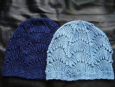 Ravelry: Scallop Lace Hat pattern by Leah Coccari-Swift