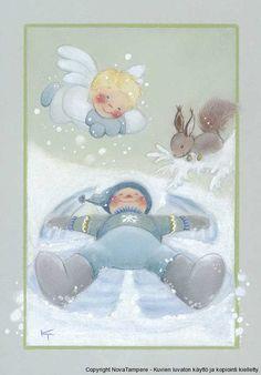 View album on Yandex. 1st Christmas, Christmas Colors, Christmas Crafts, Xmas, Christmas Clipart, Christmas Illustration, Illustration Art, Angel Drawing, Creation Photo