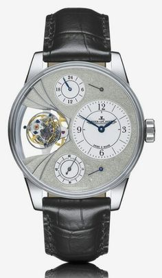 Jaeger-LeCoultre Hybris Artistica Duomètre Sphérotourbillon - Endlessly inventive, the watchmakers of the Manufacture came up with a stunning movement design paving the way for unprecedented functions. The Dual Wing is a revolutionary concept that features two standalone movements, each with its own energy source and sharing a common regulating organ. The major feature of this Duomètre is its Sphérotourbillon, in which an additional axis of rotation provides a three-dimensional rotation. In…