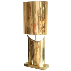 Curtis Jere; Brass Table Lamp, 1970s.