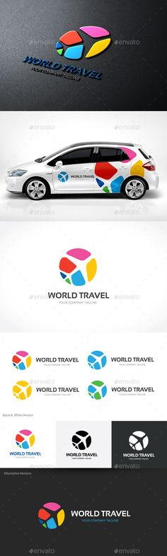 World Travel - Logo Design Template Vector #logotype Download it here: http://graphicriver.net/item/world-travel/14033596?s_rank=274?ref=nexion
