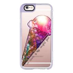 iPhone 6 Plus/6/5/5s/5c Case - Ice cream is my comfort food ($40) ❤ liked on Polyvore featuring accessories, tech accessories, iphone case, iphone cases, iphone cover case, apple iphone cases and iphone hard case