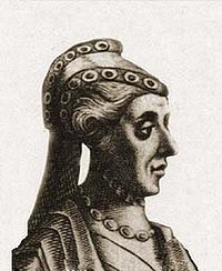 Mécia Lopes de Haro (1215 - 1270). Queen of Portugal from 1246 to her husband's death in 1248. She was married to Sancho II and had no children.
