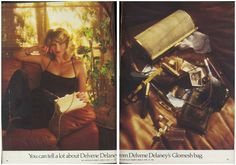 You can tell a lot about Delvene Delaney from Delvene Delaney's Glomesh bag. Print Advertising, Print Ads, The Quiz Show, Mesh Bags, Old Advertisements, Metal Mesh, Teenage Years, Beauty Pageant, Bag Accessories