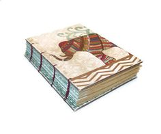 Water for Elephants Glittered Coptic  Bound by Thenibandquill, $32.00