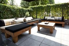 Outdoor lounge by Big Pillows, black, grey white