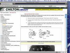 Free Chilton Manuals Online