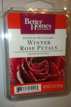 Amazon.com: Better Homes and Gardens Scented Wax Cubes Winter Rose Petals Candle Melts: Home & Kitchen