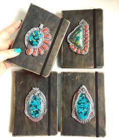 Faccio troppi gioielli questi ho deciso di trasformarli in decorazioni per Art Journals anche perché ho ritrovato nei miei cassetti una fantastica pelle color bronzo che nei punti in cui si consuma è dorata... ed era perfetta con questi !
