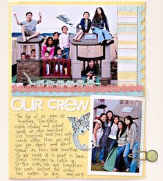 Use these ideas to create a fun-filled scrapbook page that shows off your family's personality and documents special times together.